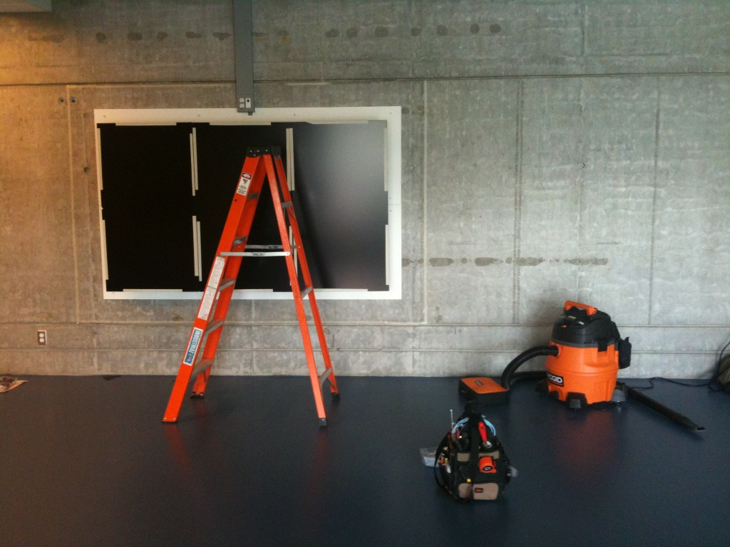Monitors being installed