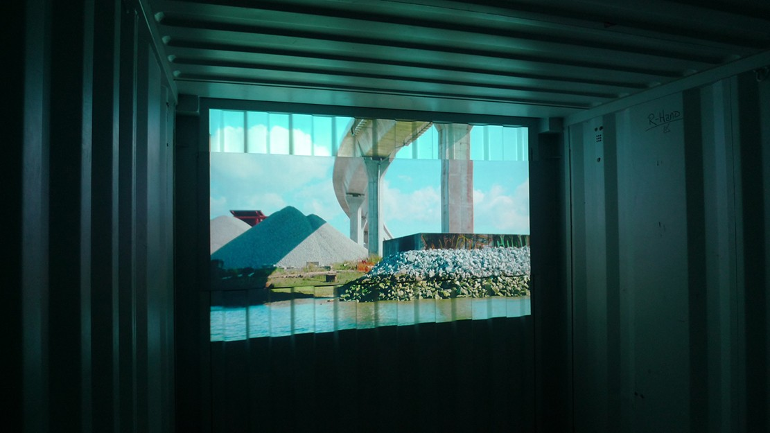 Island  Video - Installation Shot