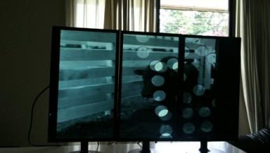 Monitors at Editing Suite